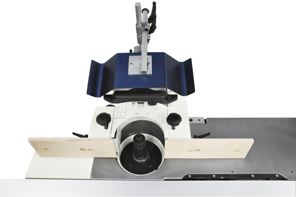 Combination table saw planer thicknesser and spindle moulder thin tape measure